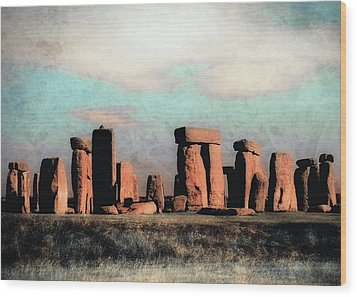 Wood Print featuring the photograph Mysterious Stonehenge by Jim Hill