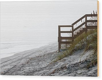 Wood Print featuring the photograph Mystery Beach by Anthony Baatz
