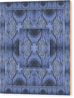 Mystery Blue Wood Print by Joy Nichols