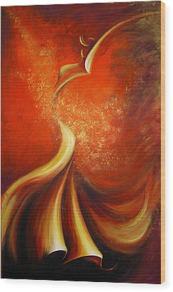Wood Print featuring the painting Mystery Dance by Dina Dargo