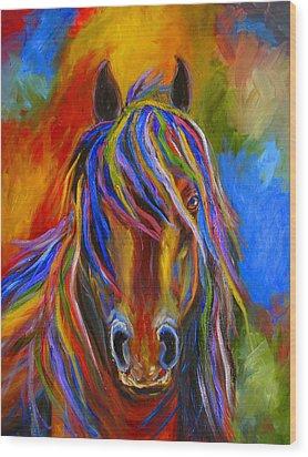 Mystery Horse Wood Print