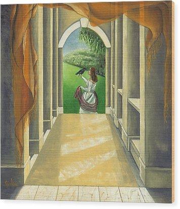 Mystery Messenger Wood Print by Gloria Cigolini-DePietro