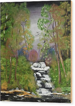 Mystic Fall Wood Print