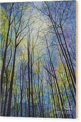 Wood Print featuring the painting Mystic Forest by Hailey E Herrera