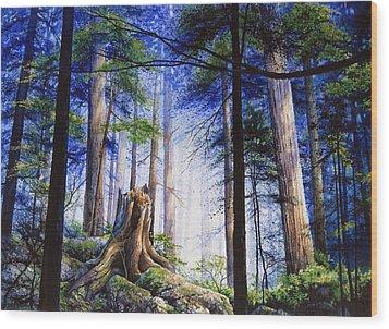 Mystic Forest Majesty Wood Print by Hanne Lore Koehler