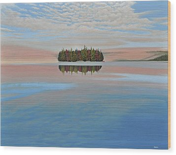 Wood Print featuring the painting Mystic Island by Kenneth M  Kirsch