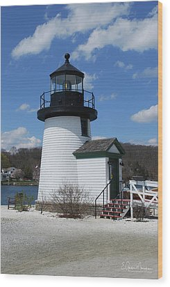 Mystic Lighthouse Wood Print by Gordon Mooneyhan