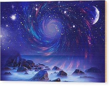 Mystic Lights Wood Print