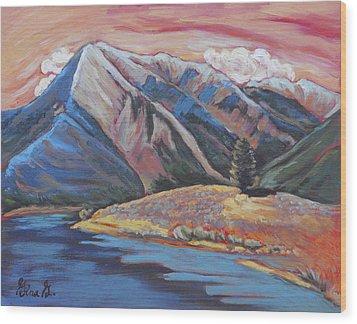 Mystic Mount Elbert Wood Print