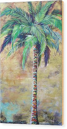 Mystic Palm Wood Print by Kristen Abrahamson