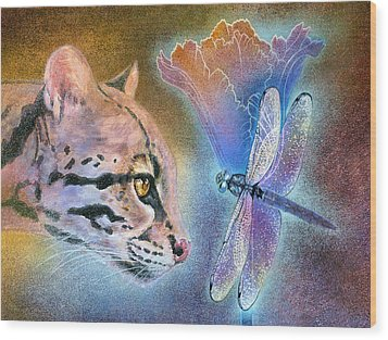 Wood Print featuring the painting Mystic by Ragen Mendenhall