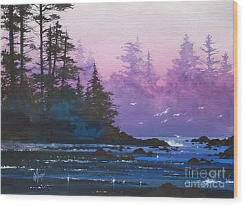 Mystic Shore Wood Print by James Williamson
