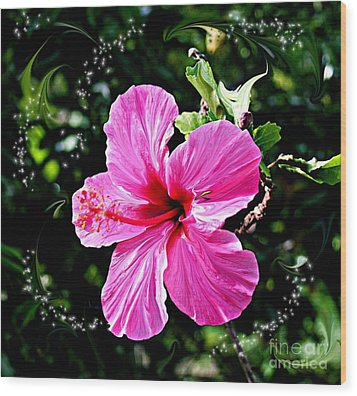Wood Print featuring the photograph Mystical Bloom by The Art of Alice Terrill