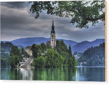 Mystical Lake Bled Wood Print