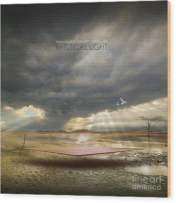 Wood Print featuring the digital art Mystical Light by Franziskus Pfleghart