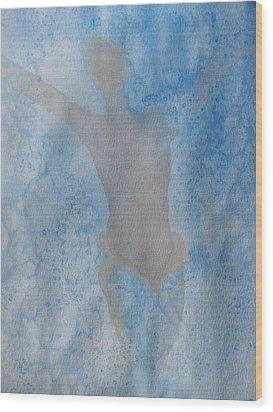 Mystical Merman Water Dance Wood Print by Lindie Racz