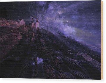Wood Print featuring the photograph Mystical Pemaquid by Wade Aiken