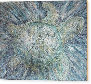 Mystical Sea Turtle Wood Print
