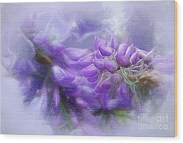 Wood Print featuring the photograph Mystical Wisteria By Kaye Menner by Kaye Menner