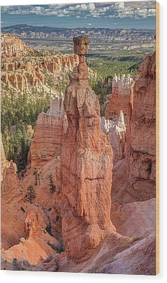 Wood Print featuring the photograph Mythological Thor's Hammer Hoodoo by Pierre Leclerc Photography
