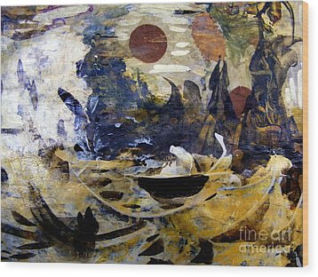 Mythologies Wood Print by Nancy Kane Chapman