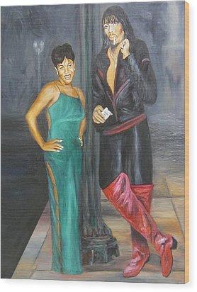 Mz Thang And Rick James Wood Print