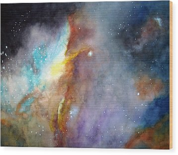 Wood Print featuring the painting N11b Large Magellanic Cloud by Allison Ashton