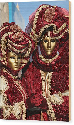 Nadine And Daniel In Red 2 Wood Print by Donna Corless