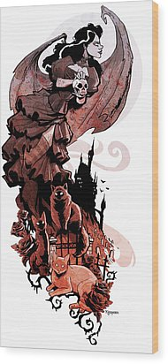 Nadja's Flight Wood Print by Brian Kesinger