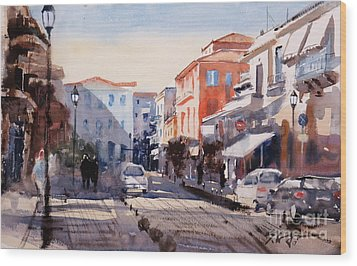 Nafplio Old Town Wood Print by Sof Georgiou