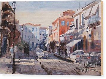 Nafplio Old Town Wood Print