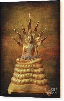 Wood Print featuring the photograph Naga Buddha by Adrian Evans
