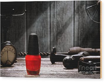 Nail Polish Wood Print by Olivier Le Queinec