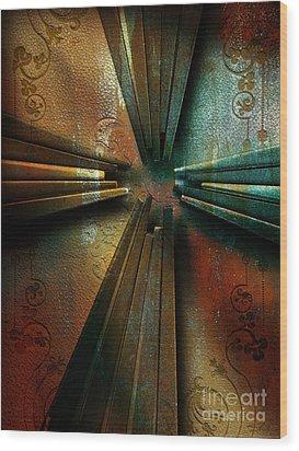 Nails Wood Print by Shevon Johnson