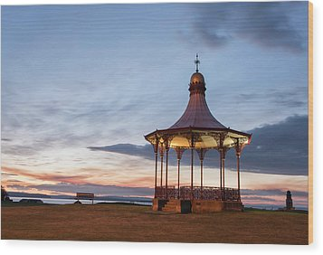 Nairn Bandstand At Dawn Wood Print