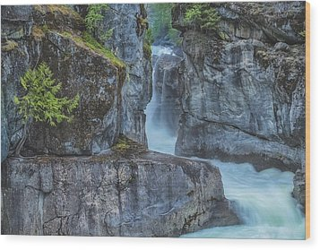 Wood Print featuring the photograph Nairn Falls by Jacqui Boonstra