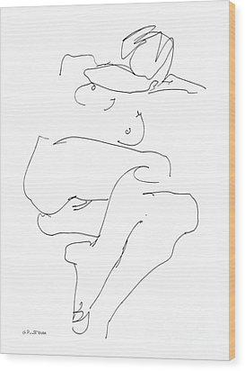 Naked-female-art-21 Wood Print by Gordon Punt