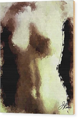 Wood Print featuring the painting Naked Female Torso  by Joan Reese