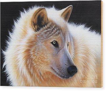 Nala Wood Print by Sandi Baker