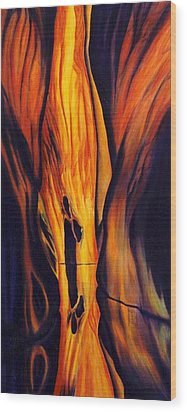 Namaste- I Meet My Maker Wood Print