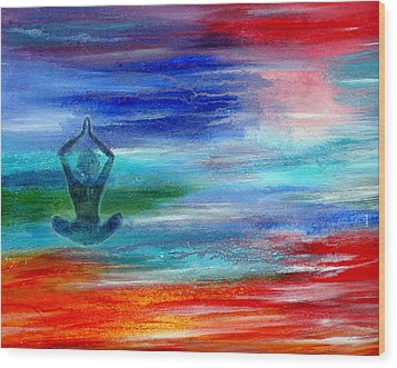 Namaste Wood Print by The Art With A Heart By Charlotte Phillips
