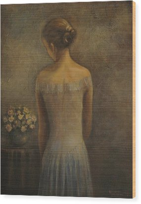 Nancy At Bedtime Wood Print