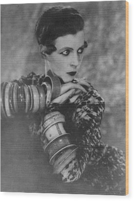 Nancy Cunard 1896-1965, Heiress Wood Print by Everett