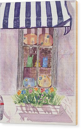 Nancy's Charleston Window Wood Print by Joan Zepf