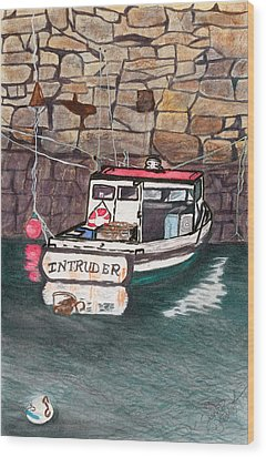 Nancy's Dirty Boat Wood Print by Joan Zepf