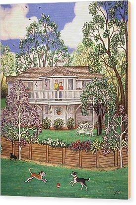 Nancy's House Wood Print by Linda Mears
