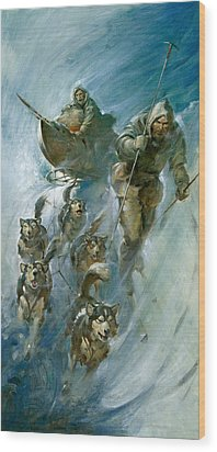 Nansen Conqueror Of The Arctic Ice Wood Print by James Edwin McConnell