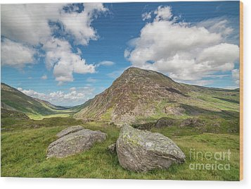 Wood Print featuring the photograph Nant Ffrancon Valley, Snowdonia by Adrian Evans