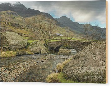 Wood Print featuring the photograph Nant Peris Bridge by Adrian Evans