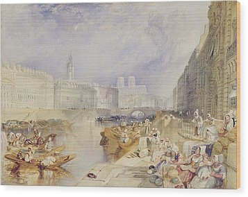 Nantes Wood Print by Joseph Mallord William Turner